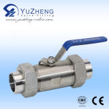 Steel inoxidable Pn16 Flange Ending de 2PC Ball Valve