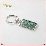 Modifica chiave stampata rettangolo del metallo a resina epossidica del regalo di promozione