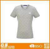 T-shirt seco do ajuste da forma dos homens