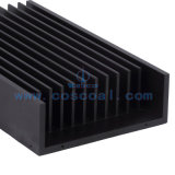 Dissipatore di calore di alluminio personalizzato con il nero anodizzato per il LED