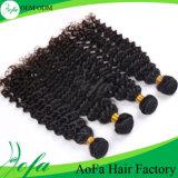 安い価格のインドの人間の毛髪のかつら、Remyのバージンの人間の毛髪のよこ糸
