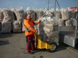 Grand sac aéré pour le bois de chauffage emballant le tissu respirable de maille de 4 côtés, traité aux UV