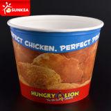 Taza de papel impresa marca de fábrica de encargo del pollo de las palomitas