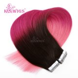 K.S Wigs Hot Sales 6A Tape Hair Extension 100% 브라질인 Remy Hair Extension