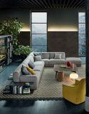 L superiore sofà d'angolo sezionale del tessuto di figura impostato (FS-013)
