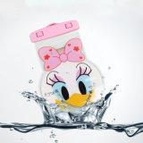 Saco seco impermeável dos desenhos animados do PVC com colhedor para o telefone móvel