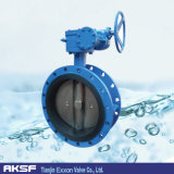 GOST/DIN Concentric Flange Butterfly Valve in Stock