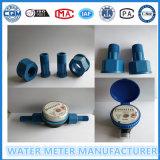 Medidor de água do fluxo do agregado familiar do jato do escudo de nylon preto único