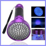 Aluminum 395 400nm 100 LED UV Ink Blacklight Ultraviolet Torch Pet Dog Urine Detector Money Checker UV Flashlight (LED100)