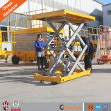 Estacionário Scissor o elevador hidráulico da carga da plataforma do elevador de bens para o armazém