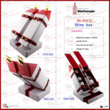 PU Leather Wrap Wood Wine Box For 1本のびん(4592R3)