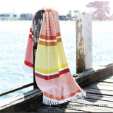 競争価格のジャカードベロア浜毛布のビーチタオル