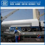 Líquido nitrógeno del oxígeno del argón almacenamiento Semi Remolque Cisterna