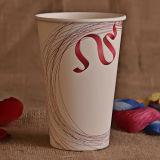 Taza de papel impresa insignia de encargo