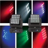 Epsilon-PRO Flexcube 25 5X5 10W CREE RGBW LED Beam/Wash Moving Head Matrix Panel Light