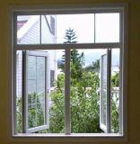 El marco de aluminio del panel doble arqueó la cara de la ventana colgada