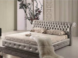 A029フランス風の木の寝室のベッド