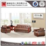 Sofà di cuoio attendente di legno dell'ufficio di disegno classico (NS-D6212)
