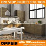 Kast van de Keuken van de Melamine van de Levering van Oppein de Moderne Snelle Houten In het groot (OP14-K005)