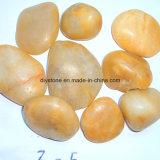 Pedra decorativa do seixo natural amarelo da alta qualidade