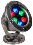 luz ao ar livre do diodo emissor de luz do RGB da lâmpada 24V subaquática