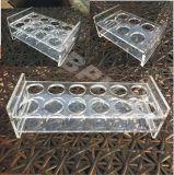 Kundenspezifischer Acrylflaschen-Ausstellungsstand mit LED, Bier-Bildschirmanzeige-Zahnstange
