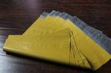 لون صفراء حقيبة مبلمرة بريديّة مع ختم صوف لصوقة