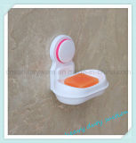 Badezimmer-Dusche-Wand-Plastikabsaugung-Cup-Seifen-Kasten-Halter-Teller-Tellersegment