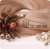 Extensão customizável do cabelo do laço da alta qualidade da cor da parte alta do cabelo humano do X-Anel