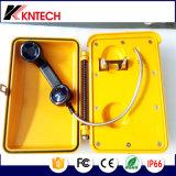Дисковый телефон Knsp-03t2s Kntech промышленных систем коммуникаций автоматический
