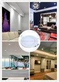 De interior ahorros de energía blancos de vivienda ahuecada ultrafinos redondos del color 6W LED de la iluminación abajo artesonan la luz de techo