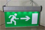 Lumière de signe de sortie de secours avec du matériau en aluminium et acrylique (PRD2343)