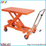 Único Scissor a tabela de levantamento hidráulica padrão com rodas Ylf30