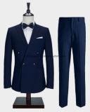 최신 디자인을%s 가진 고전적인 파란 색깔 외투 바지 남자 한 벌