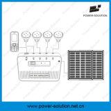 Sistema de iluminación del hogar de la energía solar para la familia con el cargador del teléfono