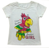 Print Sgt-075를 가진 Children Clothes Apparel에 있는 꽃 Cap Girl T-Shirt