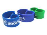 China Promotional Colorful Logo Printed Silicone Slap Bands para Children Gift