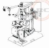 Cambiador do pneu da máquina da manutenção do cambiador do pneumático auto (AAE-C400BI)