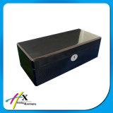 Casella di legno della fibra di base quadrata del carbonio per il singolo imballaggio della vigilanza