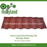 Mattonelle di tetto d'acciaio rivestite di pietra colorate (tipo classico)
