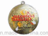Zinc Alloy su ordinazione Sport Race Half Marathon Medal con Ribbon