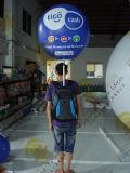 Het Lopen van de Ballon van pvc van de Reclame van het helium de Opblaasbare Openlucht/BinnenBallons van de Rugzak
