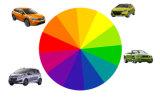 La pintura blanca sólida de los colores 2k del surtidor del oro para el automóvil reacaba