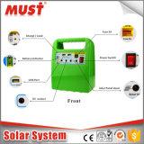 Mini sistema solar de 10W Enegry/sistema solar portátil para luzes, ventiladores