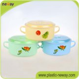 Factory profissional Colorful Round com Handle Plastic Lunch Food Box Containers para Kids