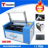 Mini conformité de la CE de graveur de machine de découpage de gravure de laser du CO2 50W de l'appareil de bureau 5030