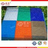 Строительный материал тента тисненого листа поликарбоната толя Yuemei
