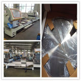 L'aluminium et découpage de mitre de double du profil de PVC ont vu