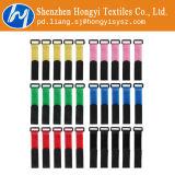 調節可能な多色刷りのホックおよびループ・ケーブルのタイ