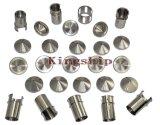 Pieza trabajada a máquina metal que trabaja a máquina modificada para requisitos particulares del CNC con acero inoxidable